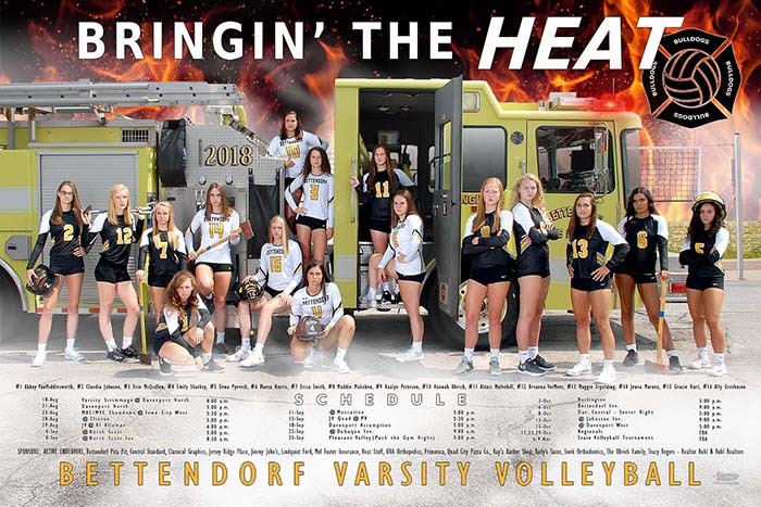 2018 Volleyball fire truck poster