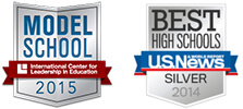 2015 Model Schools and US News Best High Schools graphics