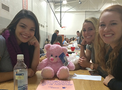 Students help build teddy bears for kids
